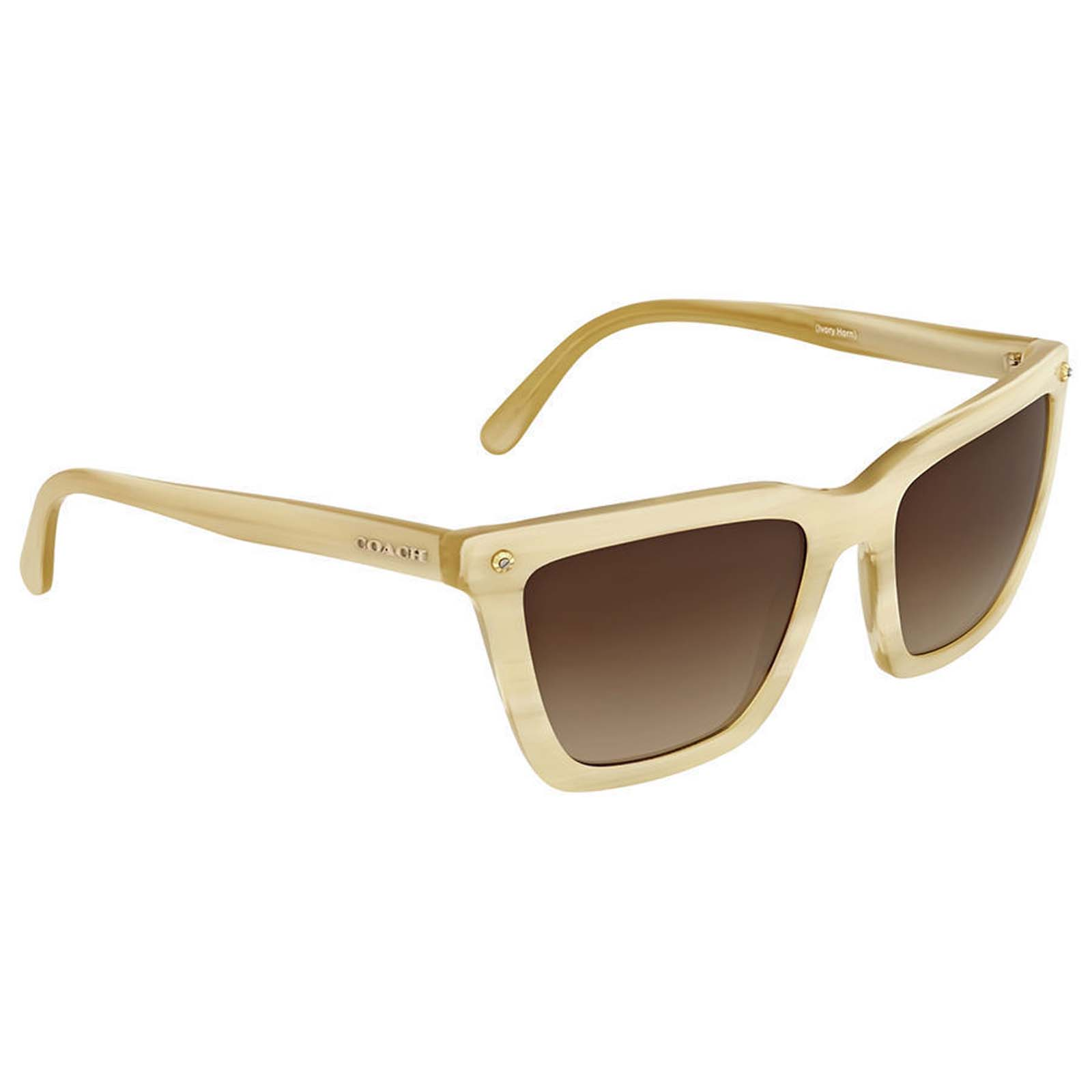 d737a35abe ... clearance coach ivory horn square sunglasses 09c86 20909