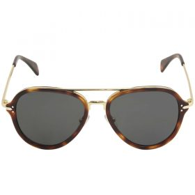 Celine Women's CL 41374S 41374S 3UAIR HavanaGold Pilot Sunglasses 54-17-140 (2)