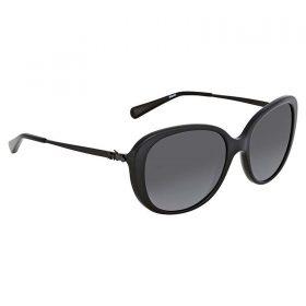 Coach HC 8215 5482T3 L1651 Black Plastic Sunglasses Grey Gradient Polarized Lens (2)