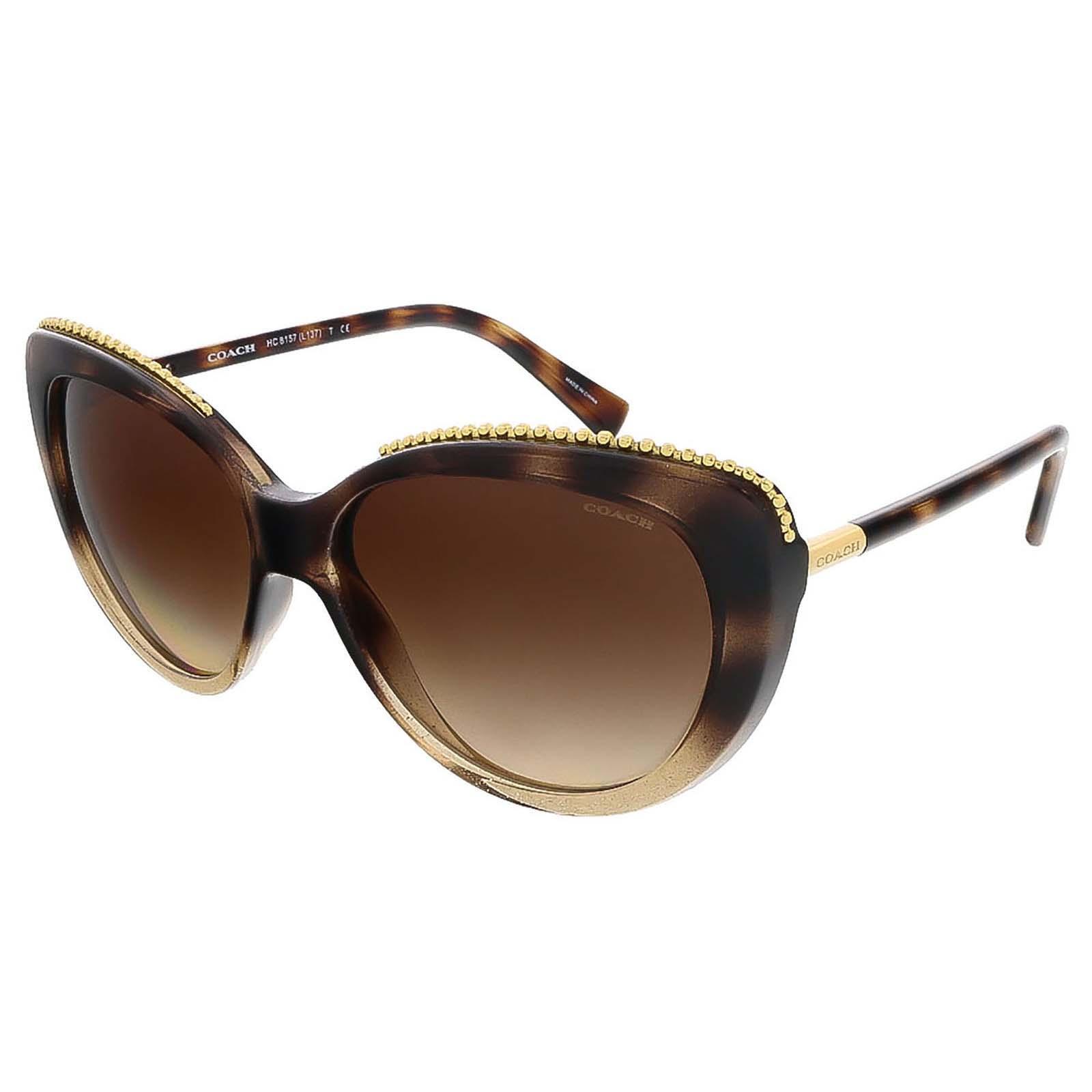 417a0f3195 Coach HC8157 533813 Glitter Dark Tortoise Cat Eye sunglasses - See ...