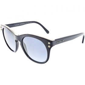 Coach HC8190 L1611 542217 Navy Blue Silver Ladies Round Sunglasses (2)