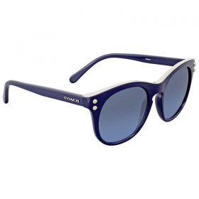 Coach HC8190 L1611 542217 Navy Blue Silver Ladies Round Sunglasses (4)