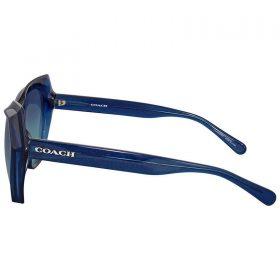 Coach HC8193 54274S Teal Glitter Cat Eye Sunglasses Blue Gradient Lenses (2)