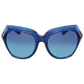 Coach HC8193 54274S Teal Glitter Cat Eye Sunglasses Blue Gradient Lenses (3)