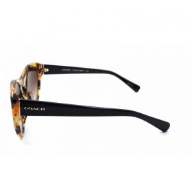 Honey Mosaic Black frames that features Caoch logo on the sides of the temples. These frames come with Brown Grad ( (3)