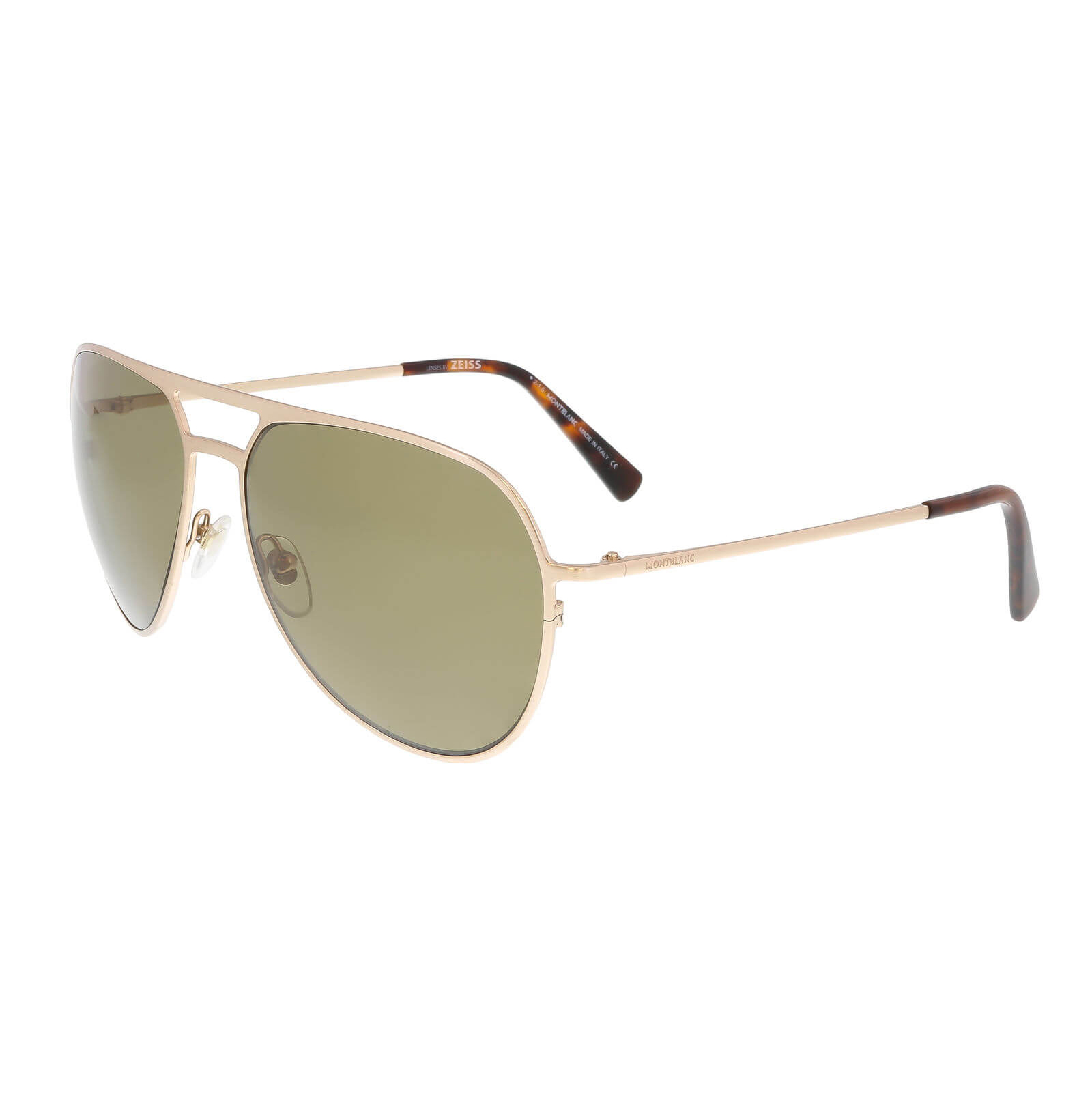 472d6f1628 Montblanc MB546S 28H Gold Aviator Polarized Sunglasses