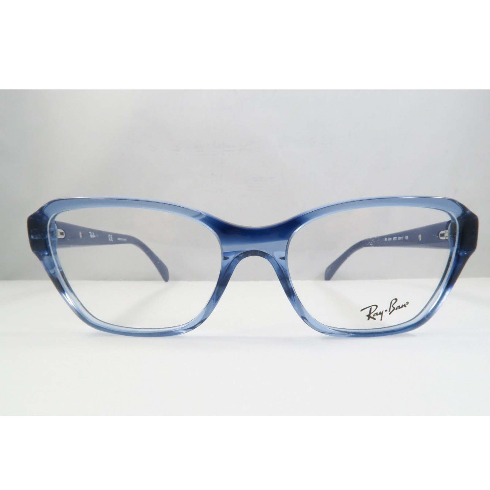 3cc0e9ce74 Ray-Ban RB 5341 5572 Clear Blue New Eyeglasses 55-17-140 - See My ...