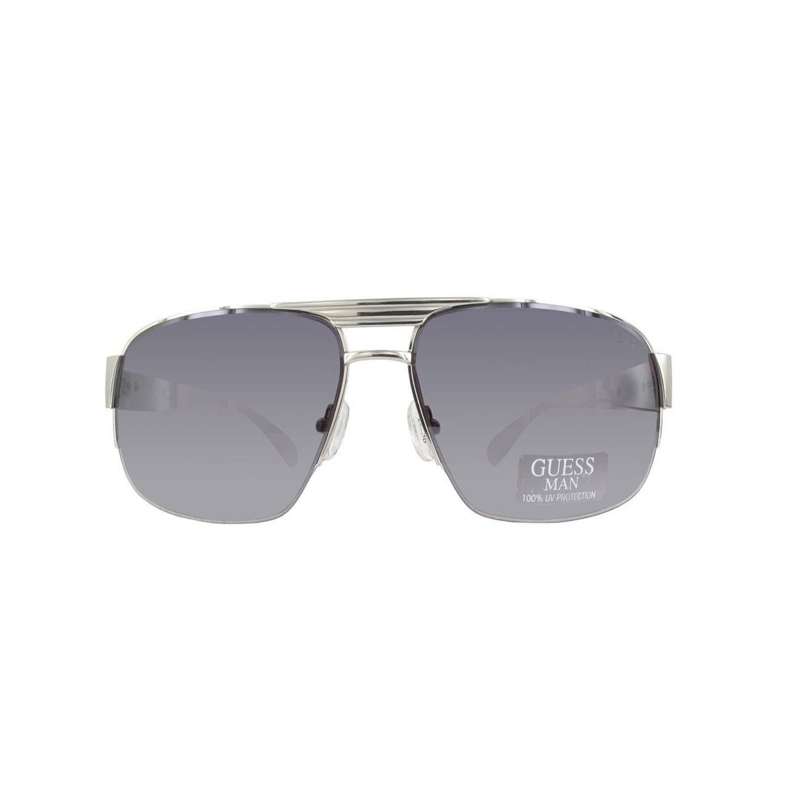 dece2b48514 Guess Mens GU6831 10C Rectangular Fashion Sunglasses white silver 63 ...