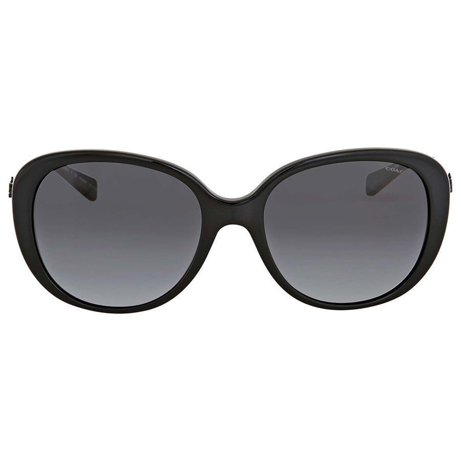 b3aab9aca9d67 Coach HC8215 5482T3 L1651 Black Sunglasses Grey Polarized Lens