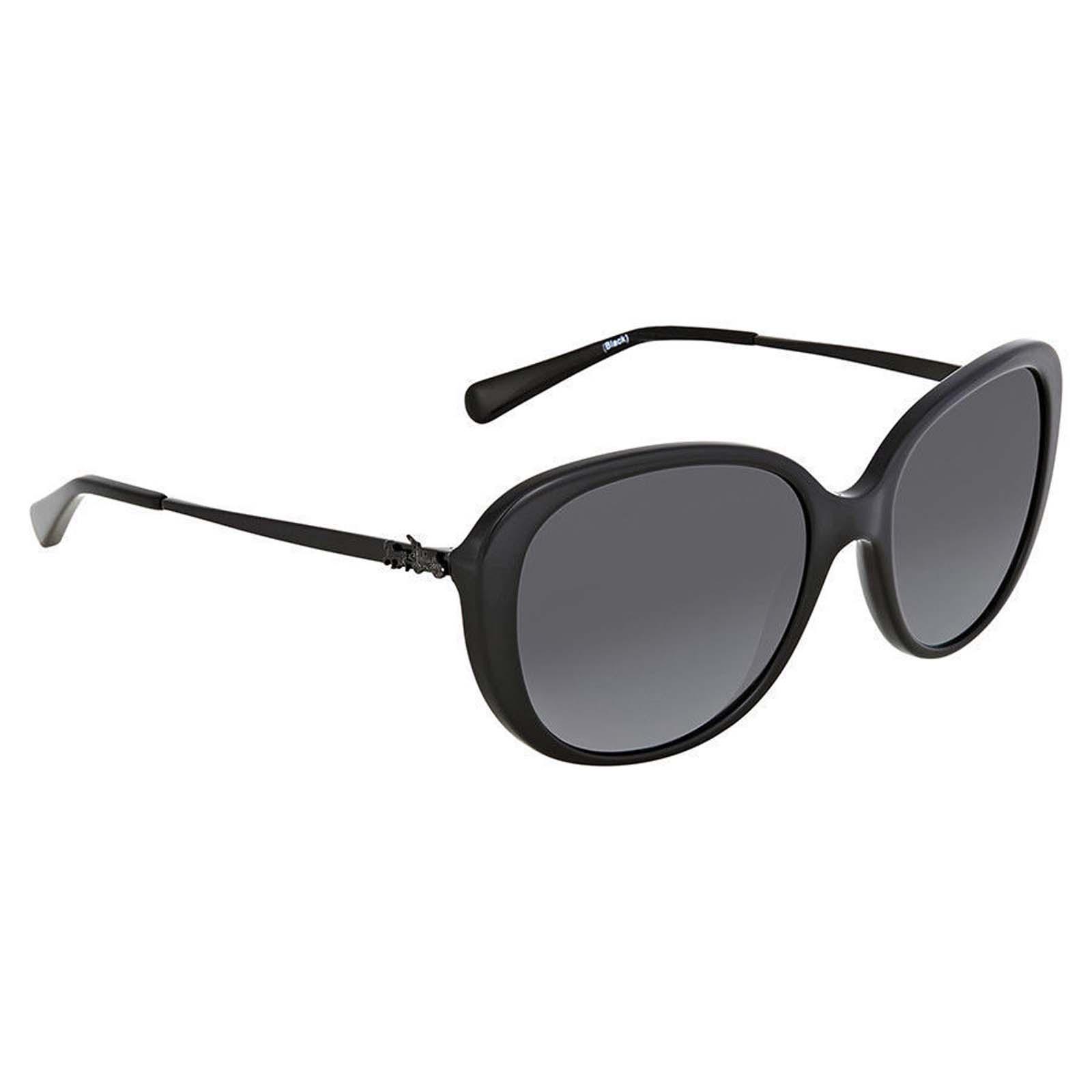 d7f9bcaa5e Coach HC 8215 5482T3 L1651 Black Plastic Sunglasses Grey Gradient Polarized  Lens ...