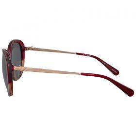 Coach Women's HC8215 547387 57 Dark Grey Solid Metal Oval Sunglasses (3)