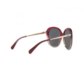 Coach Women's HC8215 547387 57 Dark Grey Solid Metal Oval Sunglasses (4)