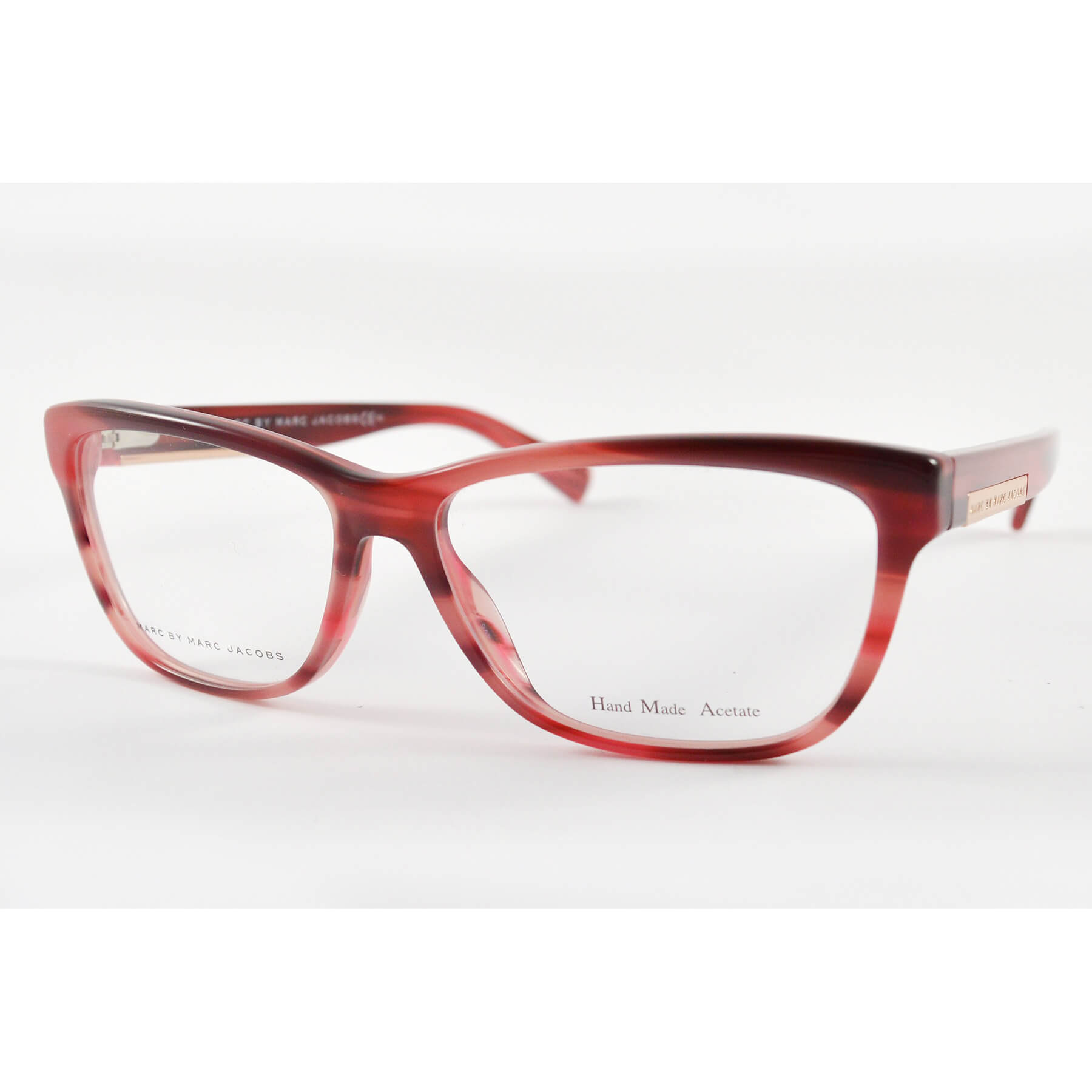 fa268037512 Marc by Marc Jacobs 618 KVN Burgundy Striped Eyeglasses