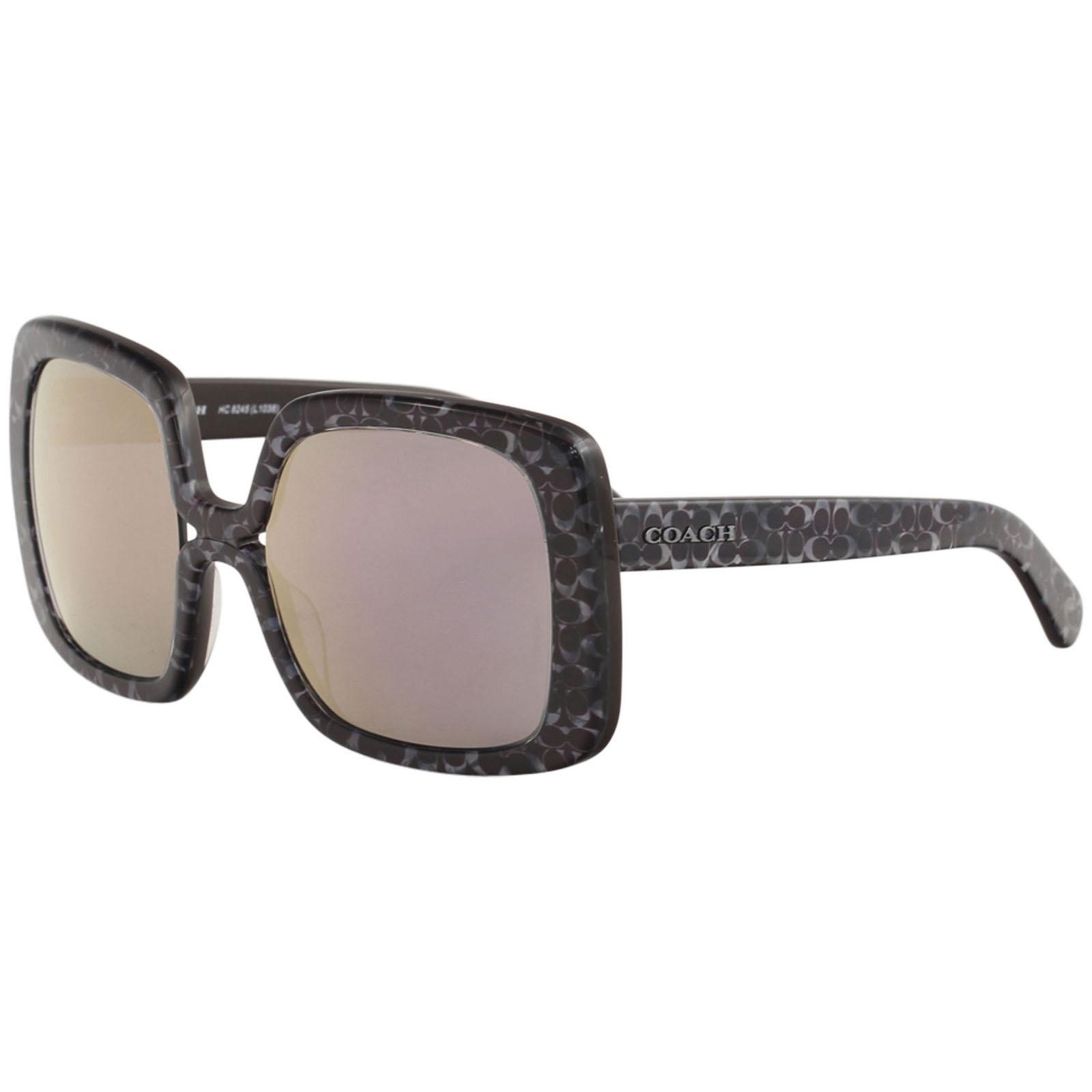 d8b63416a8893 Coach HC8245 55185R Oxblood Signature C Square Sunglasses