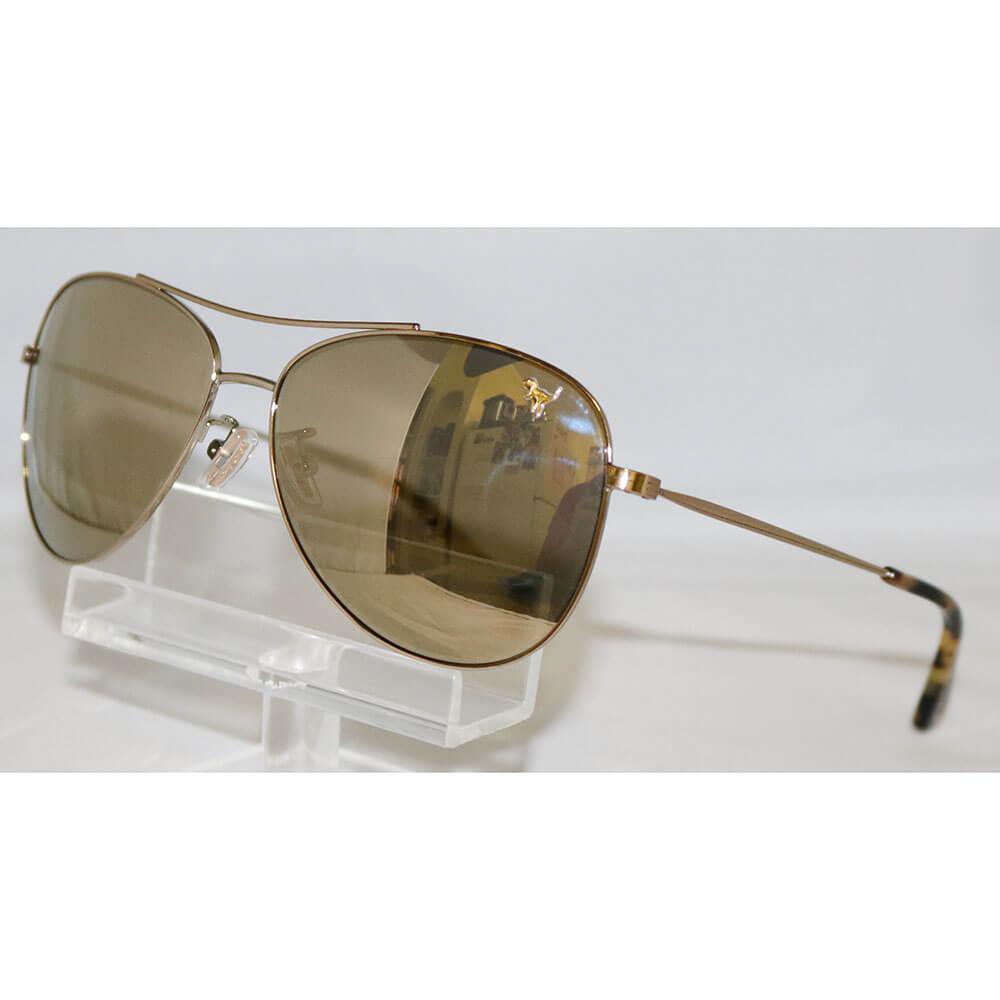 1b268ea423b17 Coach Women s HC7079 7079 90056G Light Gold Pilot Sunglasses