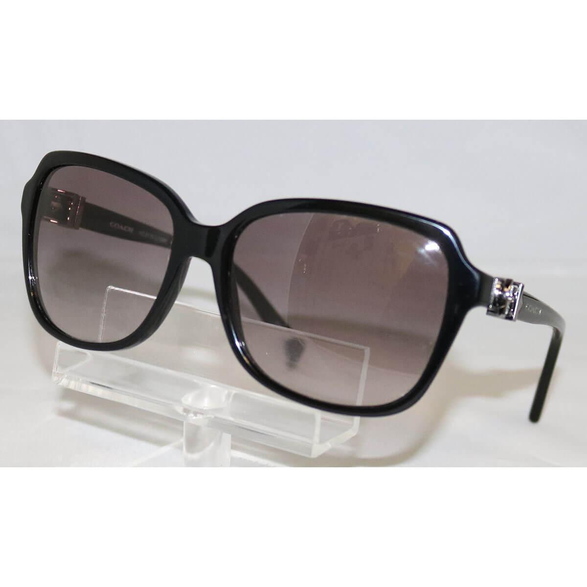 13e8c43dcbf88 Coach Women s HC8179 L1598 500211 Black Silver Square sunglasses