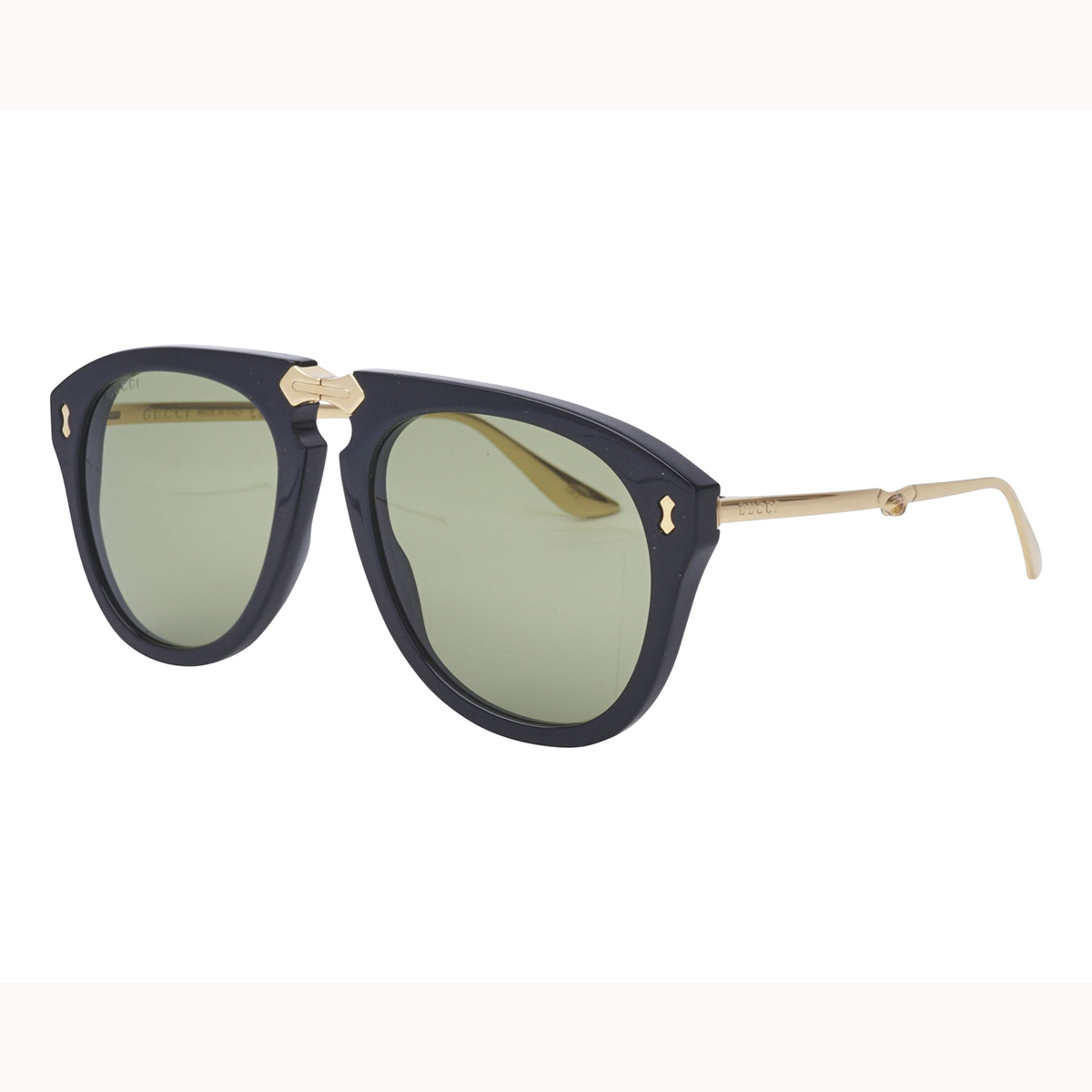 d844d6c2434 Gucci GG0305S 001 Fold-able Black Aviator Sunglasses