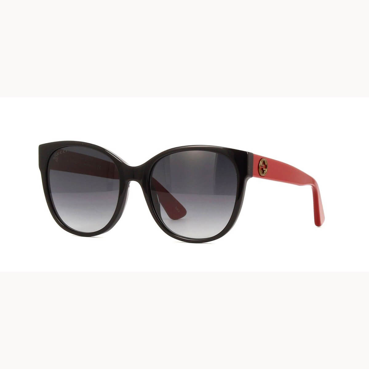 52d3e07d328c2 Gucci Women GG0097S 005 Black Red Cat Eye Sunglasses