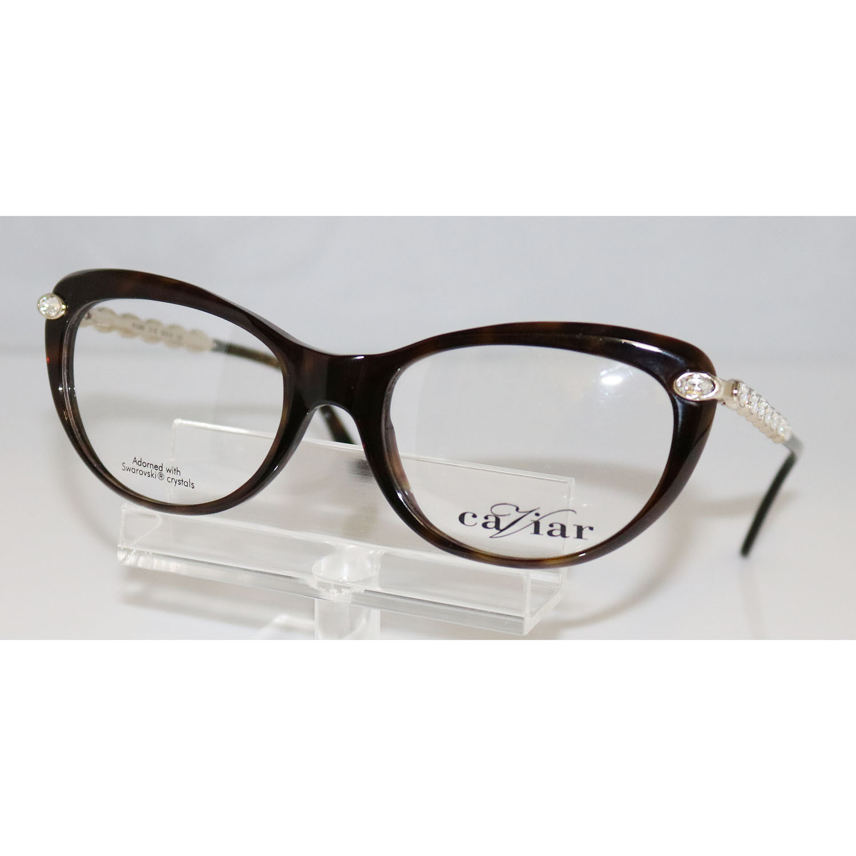 CAVIAR M2369 C16 Champagne Gold Eyeglasses with Swarovski Crystals