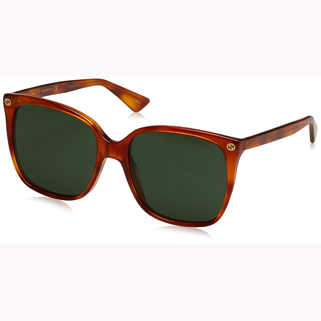 9d8b68a42bab GUCCI Havana GG0022S 002 Square Oversized Sunglasses