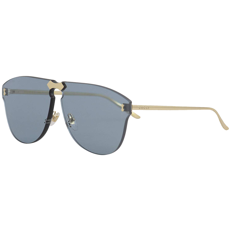 095ba52e9720 Gucci Rimless GG0354S 003 Gold Metal Aviator Sunglasses