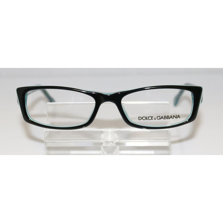 854d07a906c2 DOLCE & GABBANA DD 1212 1870 Black on Blue Eyeglasses